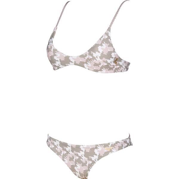 Bademode - ARENA Damen Triangel Bikini › Grau  - Onlineshop Intersport