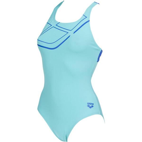 Bademode - ARENA Damen Sport Badeanzug Essentials › Blau  - Onlineshop Intersport
