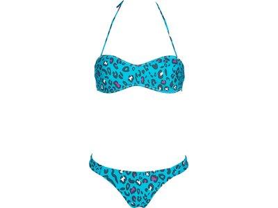 ARENA Damen Bikini ALLOVER BANDEAU Blau
