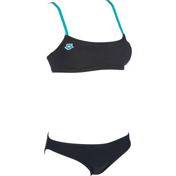 Bademode - ARENA Damen Bikini ICONS BANDEAU › Schwarz  - Onlineshop Intersport
