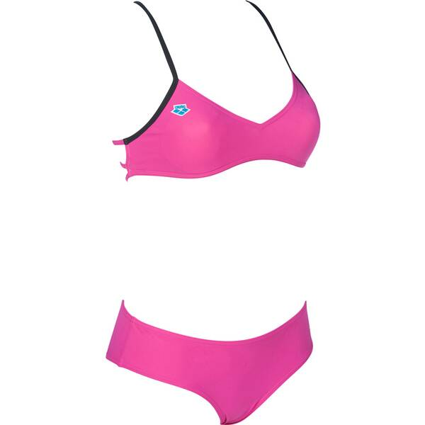 Bademode - ARENA Damen Bikini ICONS CROSS BACK › Lila  - Onlineshop Intersport