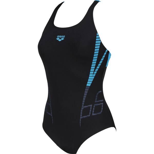 Bademode - ARENA Damen Sport Badeanzug Shiner Bustier › Schwarz  - Onlineshop Intersport
