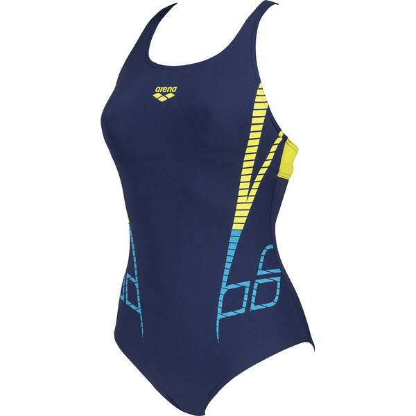 Bademode - ARENA Damen Sport Badeanzug Shiner Bustier › Blau  - Onlineshop Intersport