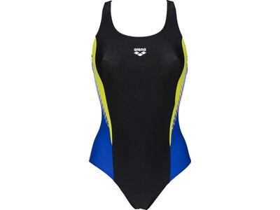 ARENA Damen Sport Badeanzug Threefold Schwarz