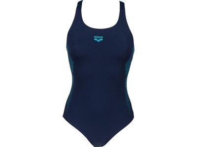 arena Damen Sport Badeanzug Streak Bustier Blau