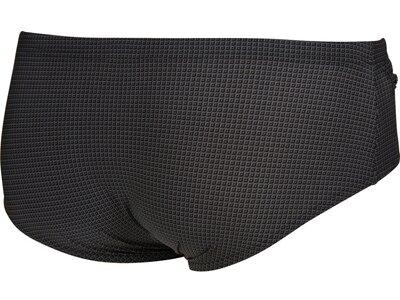 ARENA Herren Badehose Slip mit Reißverschluss Microprinted Schwarz