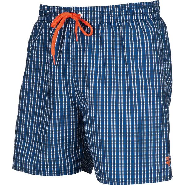 ARENA Herren Badeshort Printed Small Checks Blau