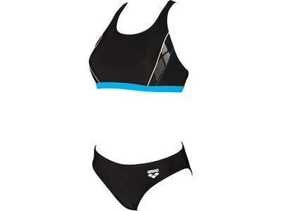 ARENA Damen Sport Bikini Skid Schwarz