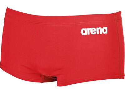 ARENA Herren Trainings Badehose Solid Squared Rot