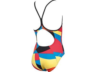 ARENA Mädchen Sport Badeanzug Mural Schwarz