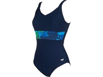 ARENA Damen Bodylift Badeanzug Doris Wing Back B-Cup Blau