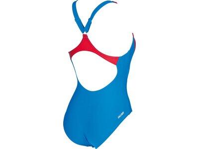 ARENA Damen Sport Badeanzug Scribble Blau