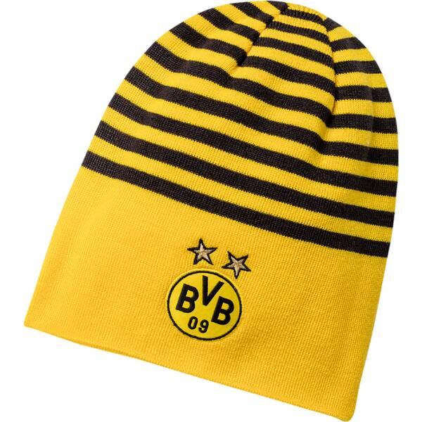 Puma Unisex Beenie BVB reversible Beanie | Accessoires > Mützen > Beanies | Yellow - Black | PUMA