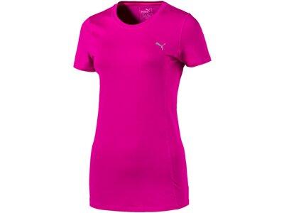 Puma Damen T-Shirt Essential Tee Rot