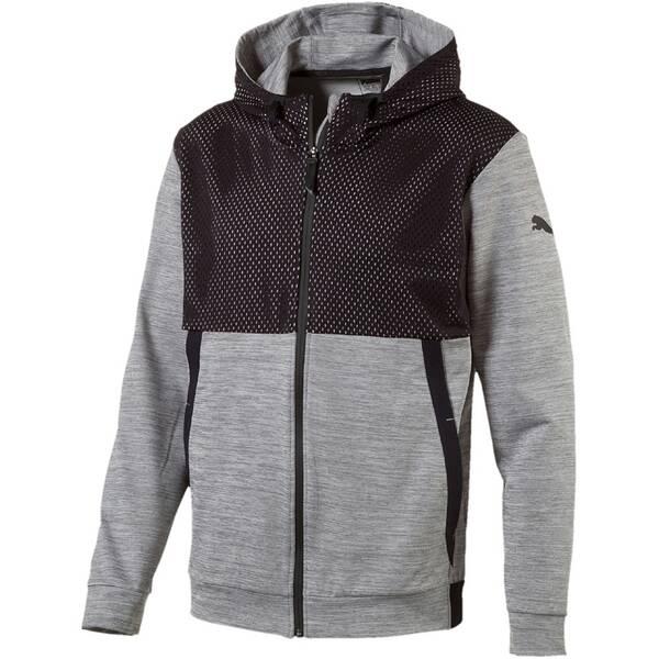 PUMA Herren Sweatshirt Tech Fleece FZ Grau