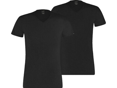 PUMA Basic Herren V-Ausschnitt T-Shirt 2er-Pack Schwarz
