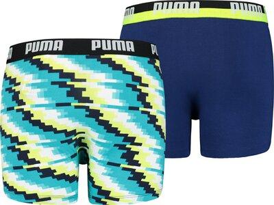 PUMA Glitch Kinder-Boxershorts 2er-Pack Grün