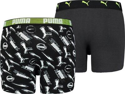 PUMA Alpha Print Kinder-Boxershorts 2er-Pack Schwarz