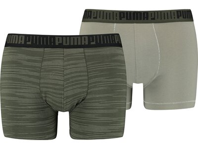 PUMA Spacedye Stripe Herren-Boxershorts 2er-Pack Grau