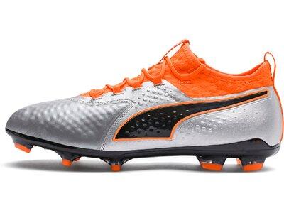 PUMA Fußball - Schuhe - Nocken ONE 2 Leder FG Silber