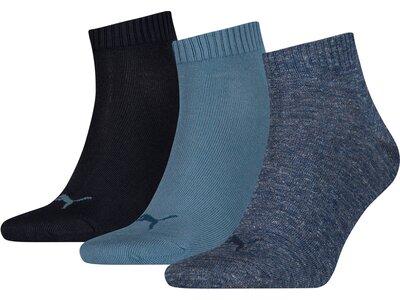 PUMA Plain Quarter-Socken 3er-Pack Grau