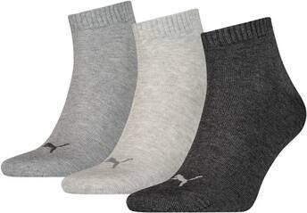PUMA Herren Socken UNISEX QUARTER PLAIN 3P