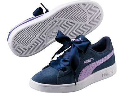 Puma Kinder Sneaker Smash v2 Ribbon Jr Silber