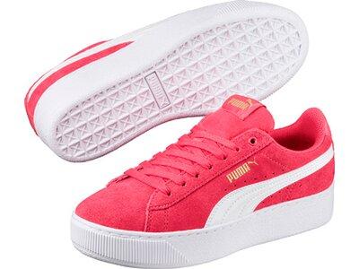 Puma Kinder Sneaker Puma Vikky Platform Rot