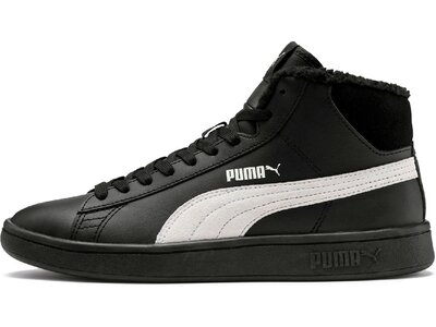 PUMA Kinder Sneaker Puma Smash v2 Mid L Fur Jr Schwarz