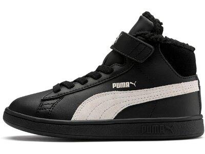 PUMA Kinder Sneaker Puma Smash v2 Mid L Fur V PS Schwarz