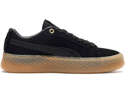 PUMA Damen Sneaker Smash Platform Frill Schwarz