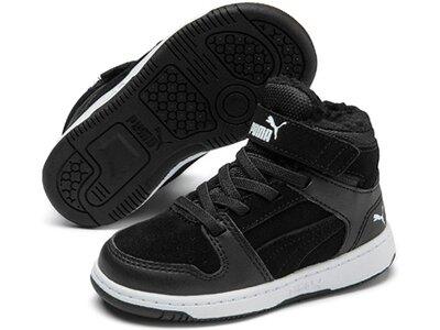 PUMA Kinder Sneaker Puma Rebound Layup Fur SD V In Schwarz