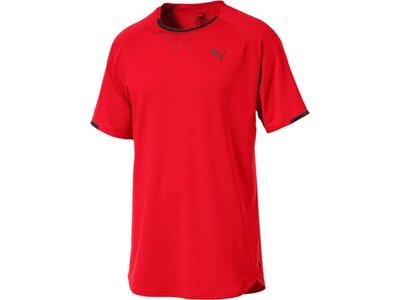 Puma Herren T-Shirt Energy Laser SS Tee Rot