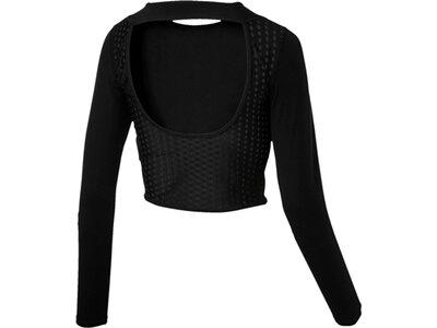 PUMA Damen Shirt Luxe Crop Schwarz