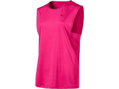 PUMA Damen T-Shirt Stand Out Muscle Tank Rot