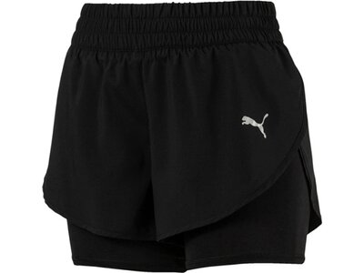 PUMA Damen Laufshorts Keep Up 2n1 3` Short Schwarz