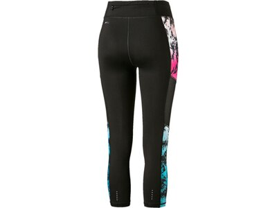 PUMA Damen Lauftight Ignite 3/4 Graphic Tight Schwarz