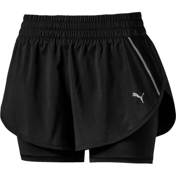 Hosen - PUMA Damen Shorts Last Lap 2in1 Short › Schwarz  - Onlineshop Intersport
