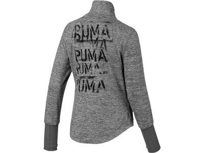 PUMA Damen Jacke Studio Knit Jacket Grau