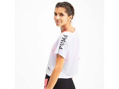 PUMA Damen T-Shirt Logo Graphic Tee Pink