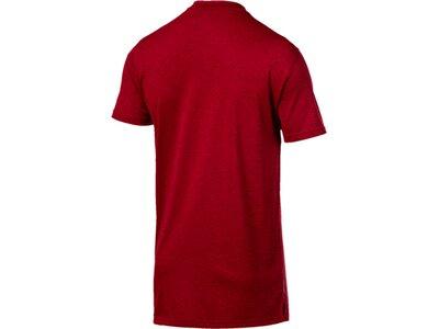 PUMA Herren T-Shirt PUMA Heather Cat Rot