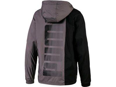 PUMA Herren Windbreaker-Jacke Collective Woven jacket Grau