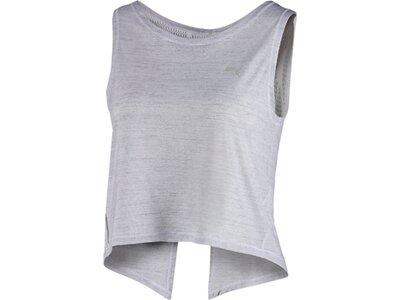 PUMA Damen Studio Crop Lace Tank Silber