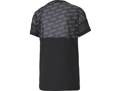 PUMA Damen T-Shirt Feel It Mesh Logo Schwarz