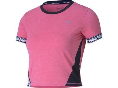 PUMA Damen Shirt Last Lap Cropped SS Pink