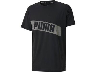 PUMA Herren Shirt Train Graphic Short Sleeve Schwarz