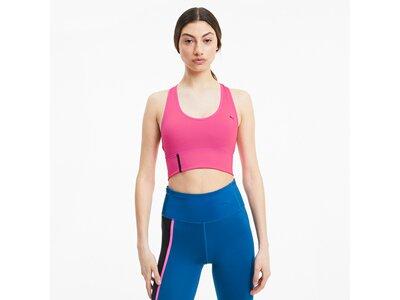 PUMA Damen Mid Impact Long Line Bra Pink