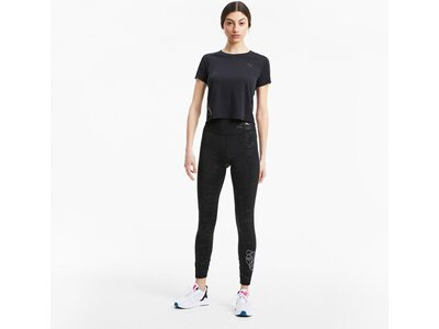 PUMA Damen Tight Train Embossed High Rise 7 Schwarz