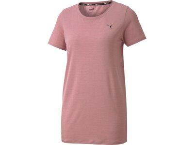 PUMA Damen T-Shirt Studio Lace Keyhole Pink