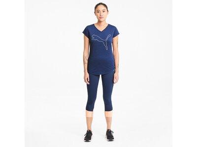 PUMA Damen T-Shirt Train Favorite Heather Cat Blau